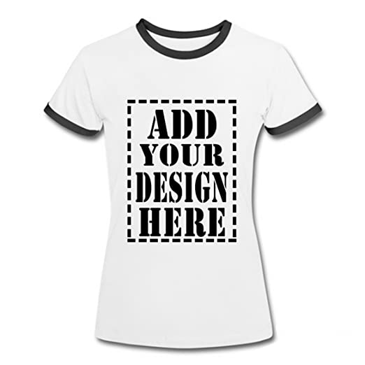 ad4cd27f4cc Personalized Retro T-Shirt With Your Custom Breathable Soft Cotton Shirts  For Women at Amazon Women s Clothing store