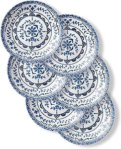 Corelle Chip Resistant Appetizer Plates, 6-Piece, Portofino