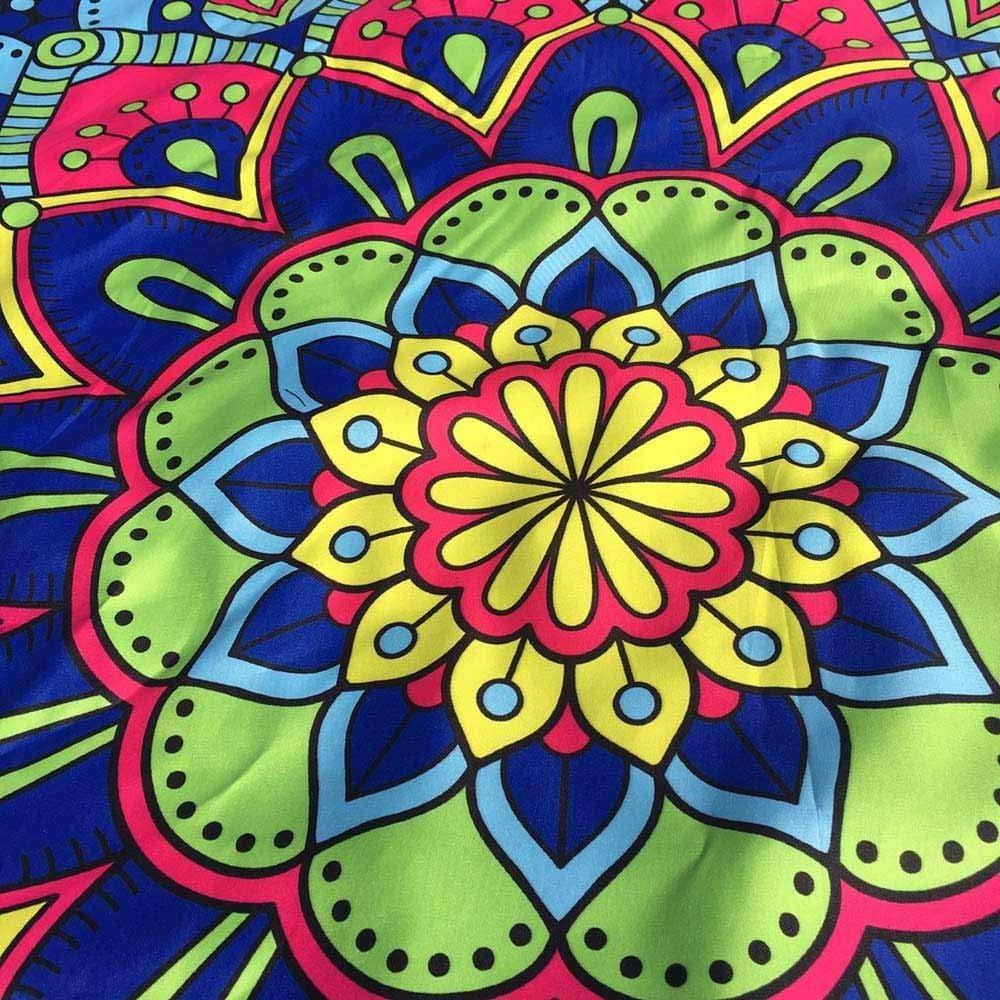 Aiserkly Lotus Hippie Tassel Tapestry Flowers Beach Throw Cushion Towel Yoga Mat Bohemian Lightweight Large Sandproof Blanket