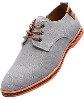 Dadawen, zapatos Oxford de tela para hombre, estilo casual, color, talla 40 EU