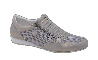 Gabor Damen Sneaker Comfort Rhodos 66.352.93 Taupe Weite G