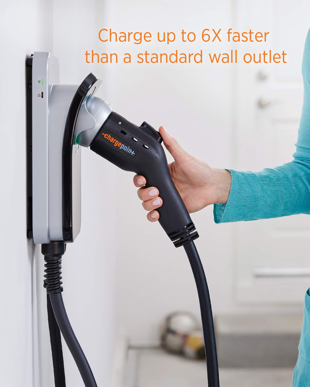 ChargePoint Home WiFi Enabled Electric Vehicle (EV) Charger - Level 2 240V EVSE, 32A Electric Car Charger for All EVs, UL Listed, ENERGY STAR Certified, Hardwired (no outlet needed), 18 Ft Cable by ChargePoint (Image #3)