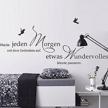 DecalMile Schwarz Wandtattoo Sprüche und Zitate Etwas Wundervolles ...