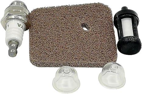 Primer Bulb Forma for Stihl FC55 FS38 FS45 tagliabordi Air Rockyin Spark Plug Filtro Carburante Filtro
