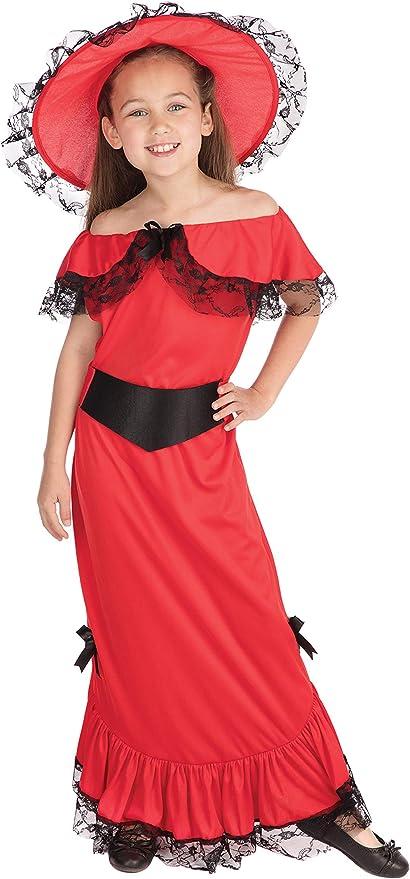 Scarlet - Disfraz de época para niña, talla 7-9 años (CC406-KIT 1 ...