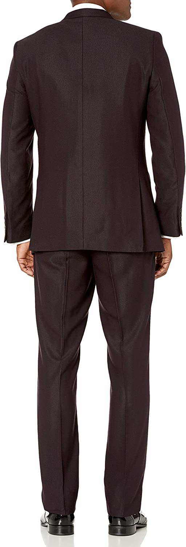 Perry Ellis Mens Mens Slim Fit Stretch Wrinkle-Resistant Tuxedo Tuxedo