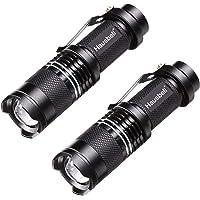 HAUSBELL Flashlights, Handheld Flashlights, 7W Mini LED Flashlights, Tactical Flashlights, Zoomable, High Lumen, Water…