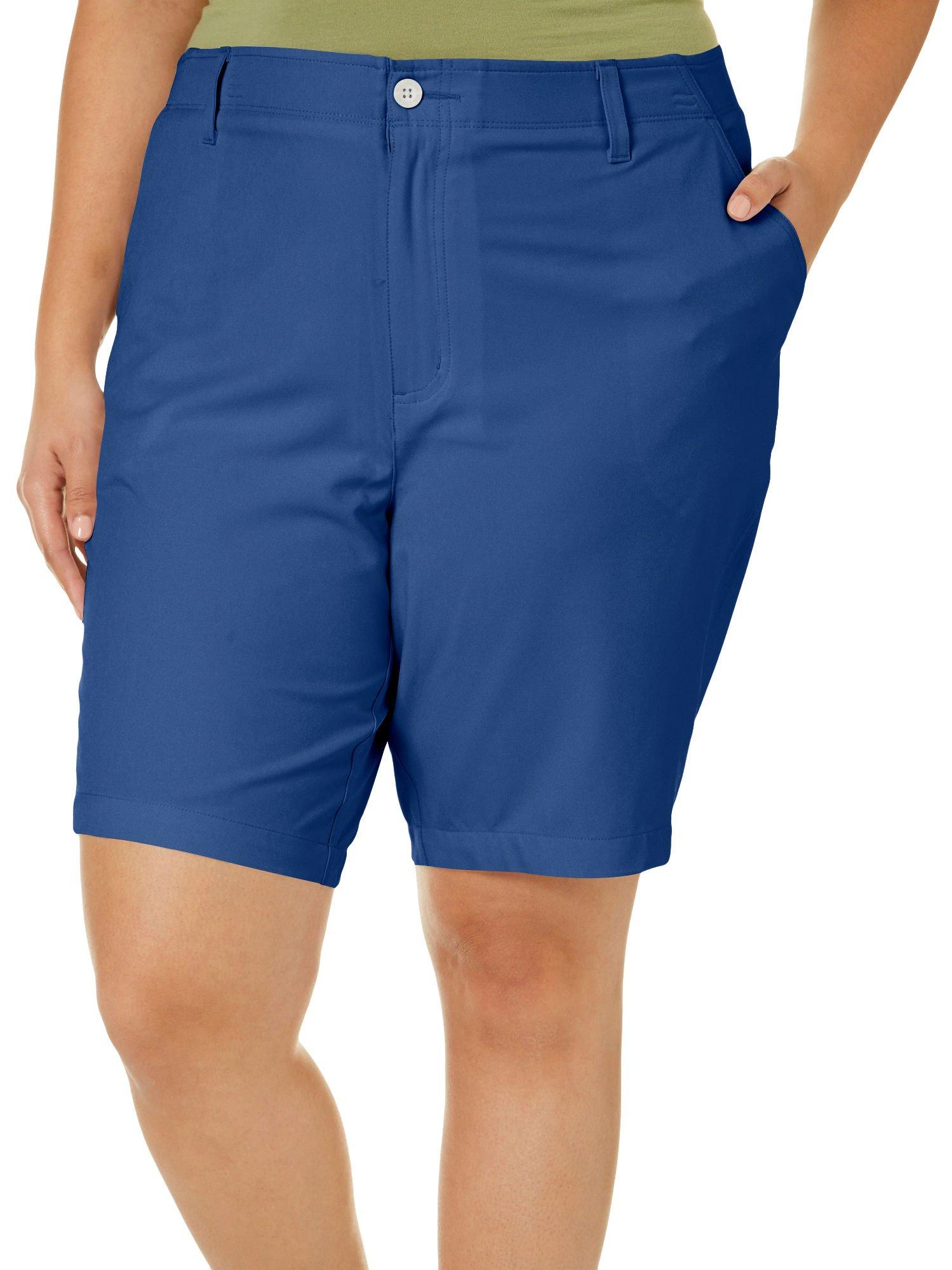 Reel Legends Plus Solid Comfort Waist Bermuda Shorts 20W Estate Blue