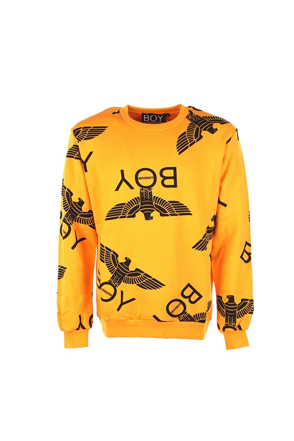 Boy London Felpa  Herren L Giallo Blu5018 Autunno Inverno 2018 19