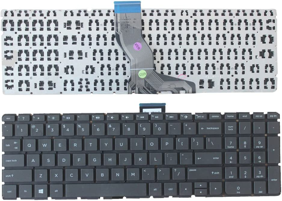 Laptop Replacement Keyboard Fit HP Pavilion 15-AU 15-AU000 15-AU010WM 15-AU018WM 15-AU020WM 15-AU030WM 15-AU030NR 15-AU062NR US Layout No Backlight