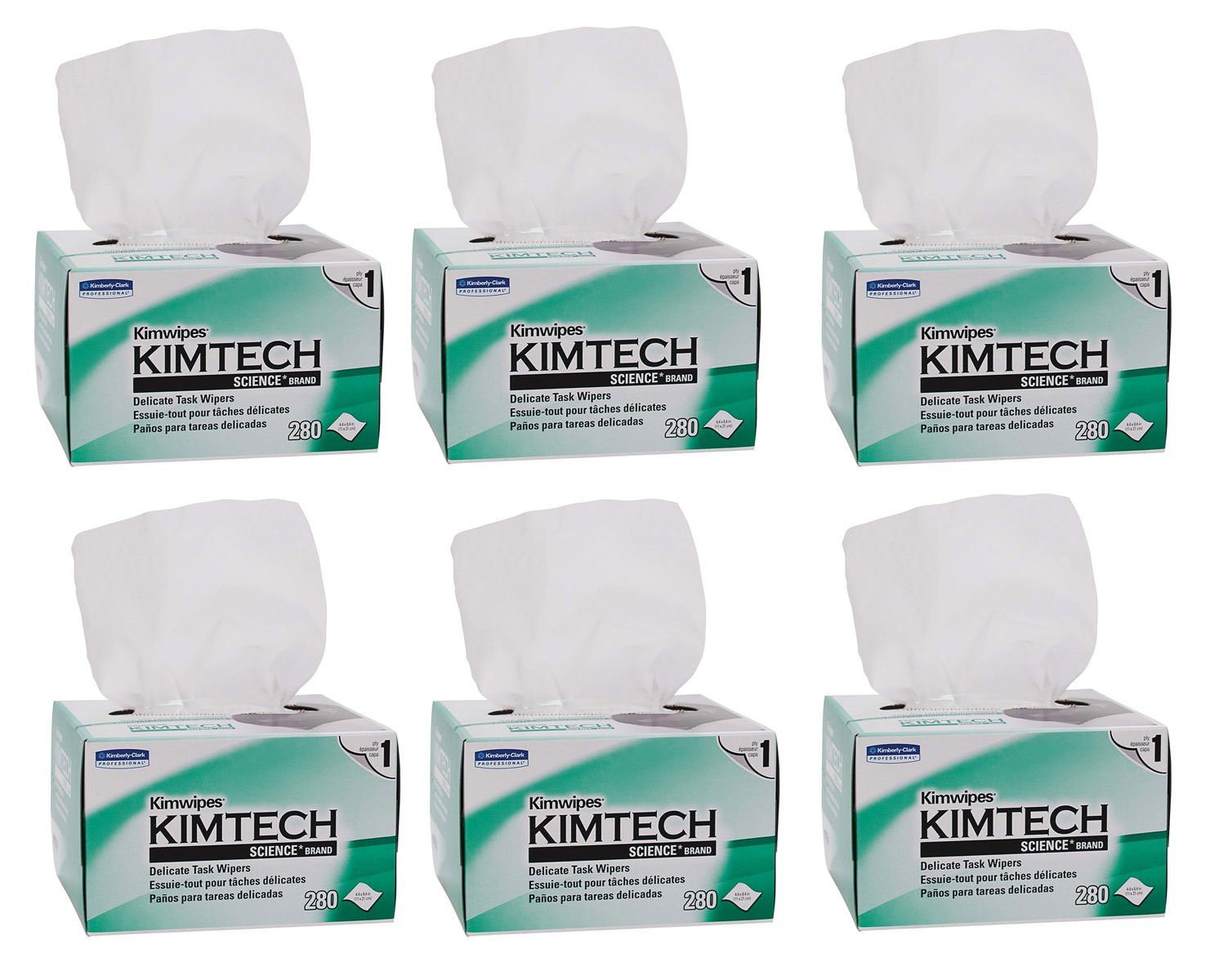Pack of 560 Tissue Kimberly-Clark 34155 Kimwipes 1-Ply Delicate Task Wipes 4.4 x 8.4