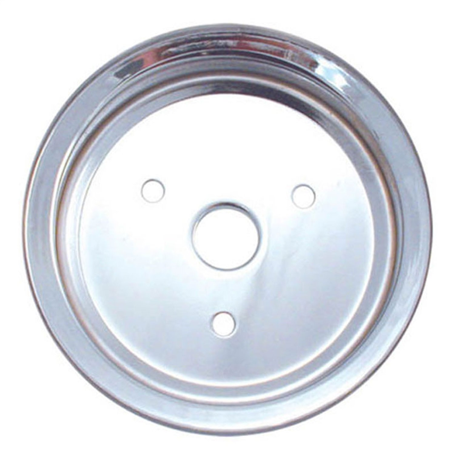 Spectre Performance 4398 Chrome Double Belt Crankshaft Pulley for Small Block Chevy with Short Water Pump