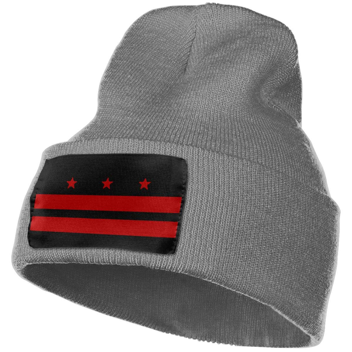 Flag of Washington D.C WHOO93@Y Mens and Womens 100/% Acrylic Knitted Hat Cap Fashion Beanie Hat
