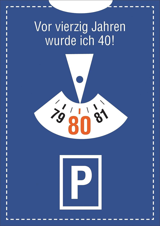 Glückwunschkarte zum Geburtstag 40 Vierzig Glückwunsch