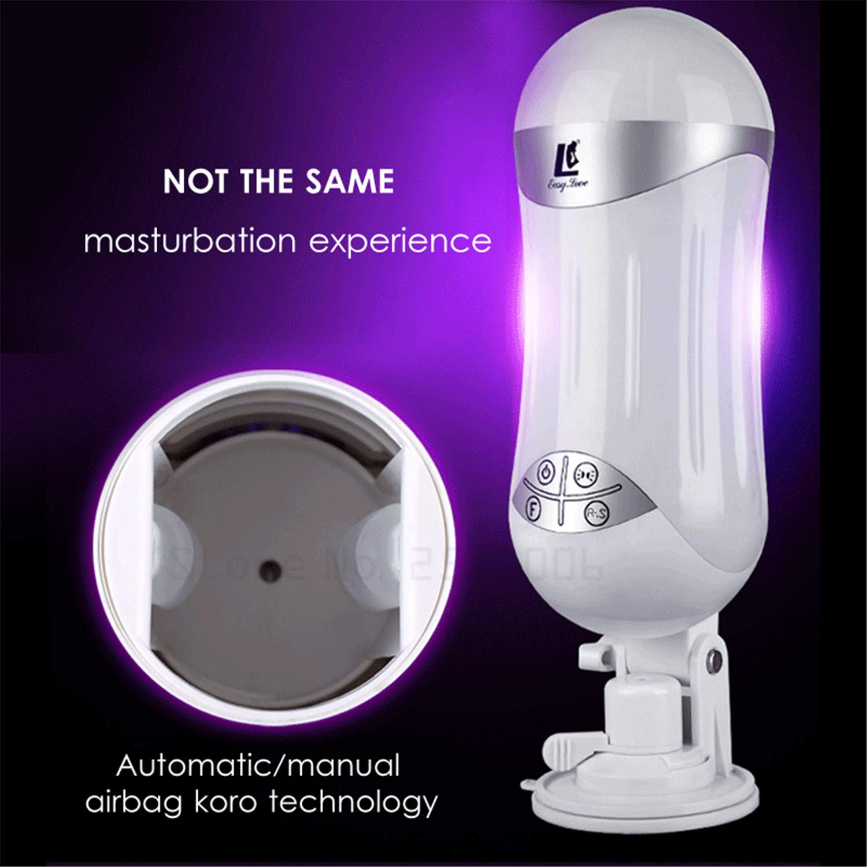 Automatic Telescopic Airbag Sucking Voice Interaction USB Sex Machine Male Masturbator Artificial Vagina Pussy Sex Toys