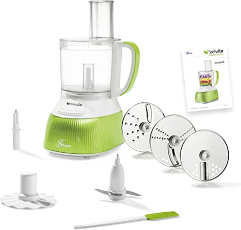 Genius A80890 Feelvita Food Processor-Robot de Cocina (12 Piezas, 11 Funciones), plástico: Amazon.es: Hogar