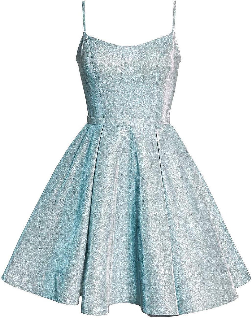 Vivian's bridal Women's Quantity limited Strap Prom Max 42% OFF Glittery Satin Dress Sh