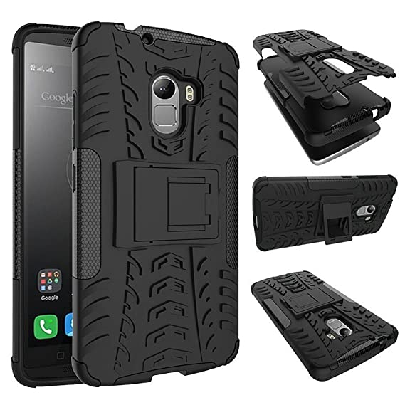 lowest price dae0c 4f66a Lenovo K4 Note Case, Lenovo A7010 Shockproof Cover, Dual Layer Protection  Shock Absorption Impact Resistant Hybrid Rugged Case Hard Shell Cover with  ...