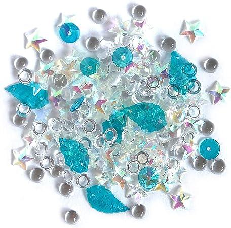 Buttons Galore Sparkletz Embellishment Pack 10g-Salt Water
