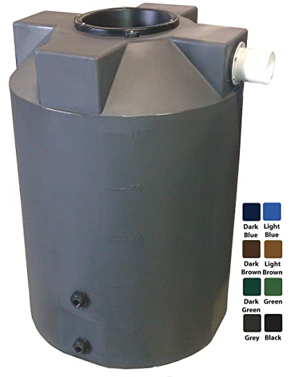Amazon com : 100 Gallon Rain Harvest Collection Tank, Dark