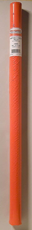 16 lb 1 Each Clearprint 1000H Design Vellum Roll Translucent White 100/% Cotton 30 Inches W x 5 Yards Long 10101137