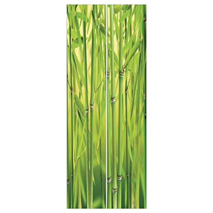 Amazon Com 3d Door Wall Mural Wallpaper Stickers Bamboo Close Up