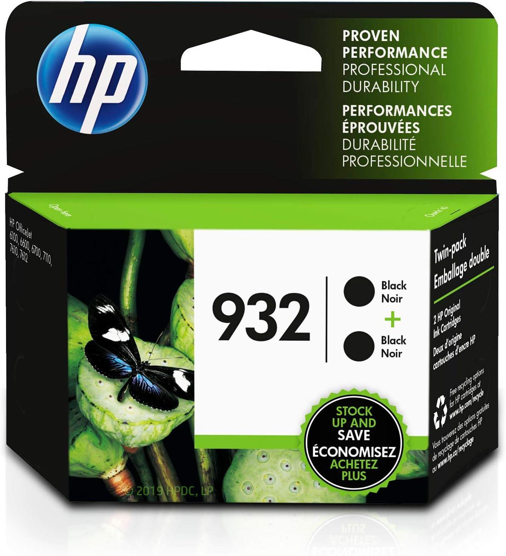 HP 932 | 2 Ink Cartridges | Black | CN057AN
