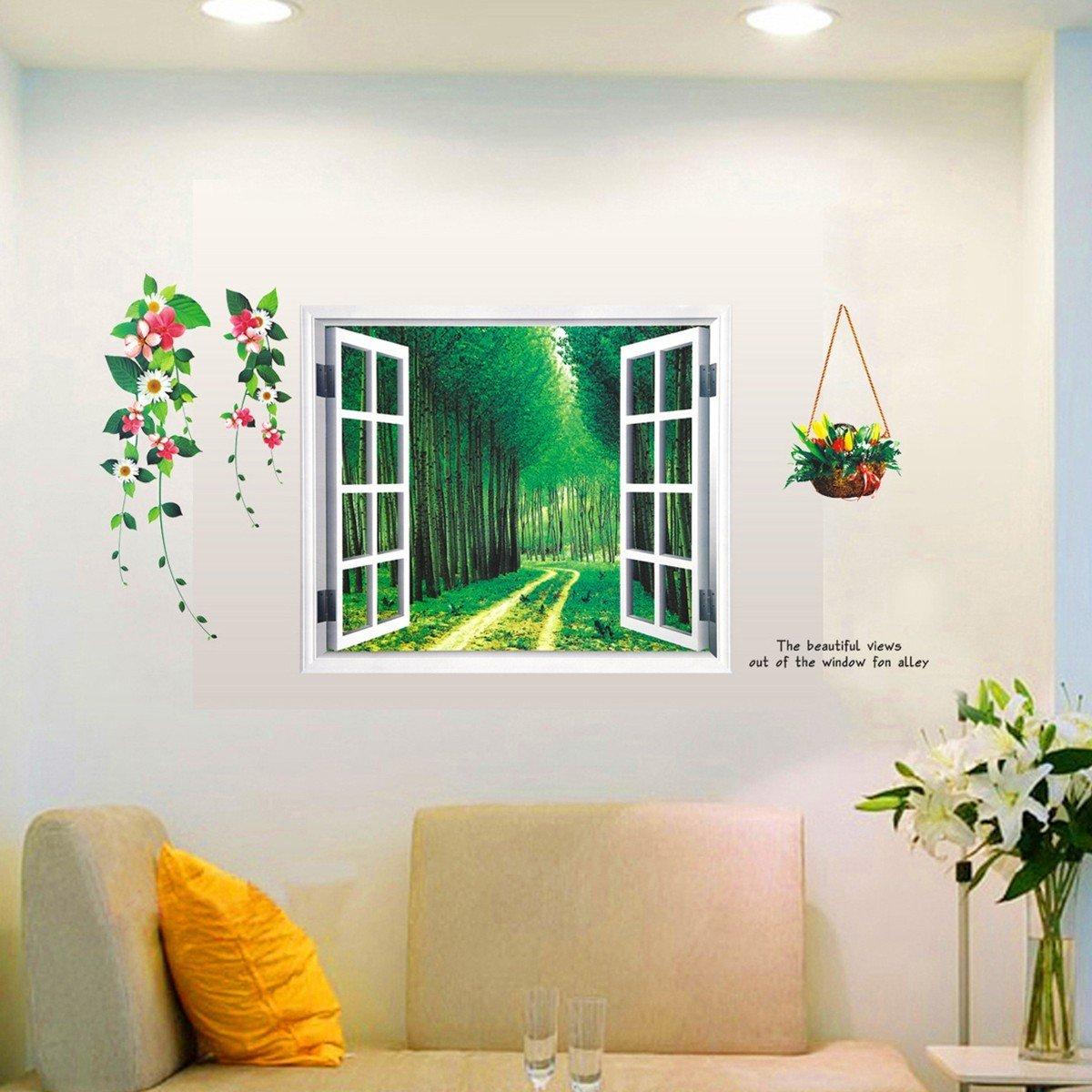 jagger associates services provided by interior designers Amazon|窓 森の道 森 ウォールステッカー 森 wall sticker ウォールペーパー 壁紙 森 ウォールシール森  60*90cm|ウォールステッカー オンライン通販