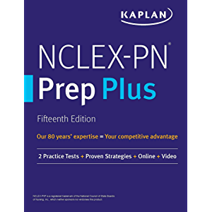 NCLEX-PN Prep Plus: 2 Practice Tests + Proven Strategies + Online + Video (Kaplan Test Prep)