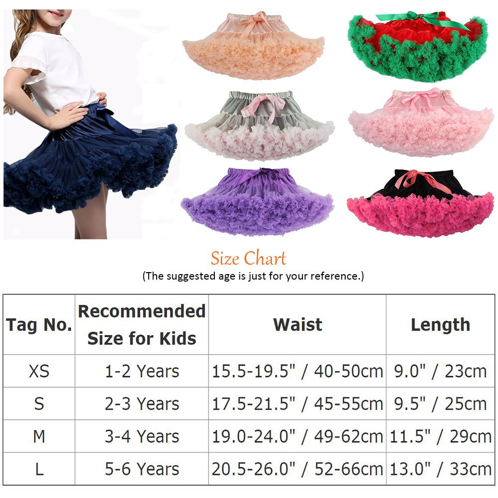 Baby Girls Tutu Pettiskirt Toddlers Kids Layered Ruffle Tulle Ballet Skirt Princess Petticoat Party Dancewear Mini Dress Up Chiffon Pregnant Dress Solid Colors 1-6 Years