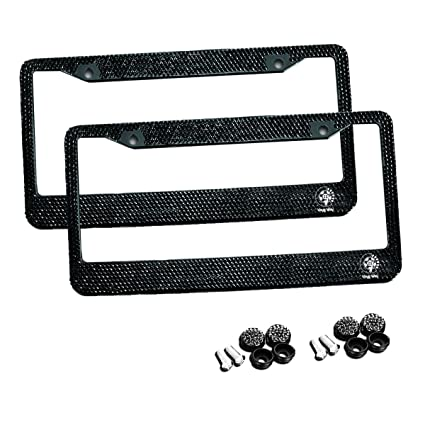 Amazon.com: VaygWay Shiny Bling License Plate Cover Frame - 2-Pack ...
