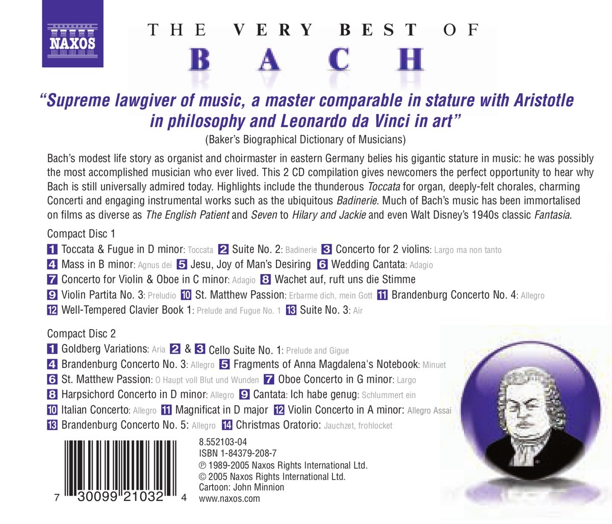 Very Best of Bach by Naxos