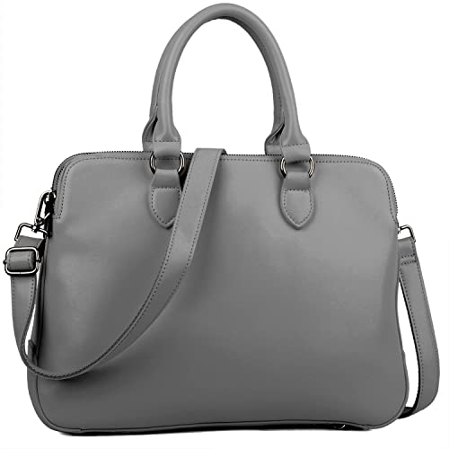 BIG SALE 70% OFF - Yaluxe Women s Leather Briefcase 13 quot  Laptop Handbags  (Grey 1df5fd1af