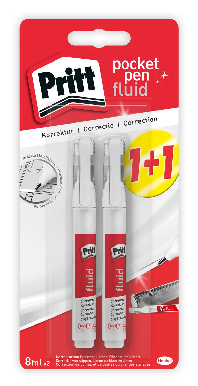 Pritt Correzione Pocket Pen liquido, 2Confezione Convenienza, 2X 8ML Henkel AG und Co KGaA 2081356