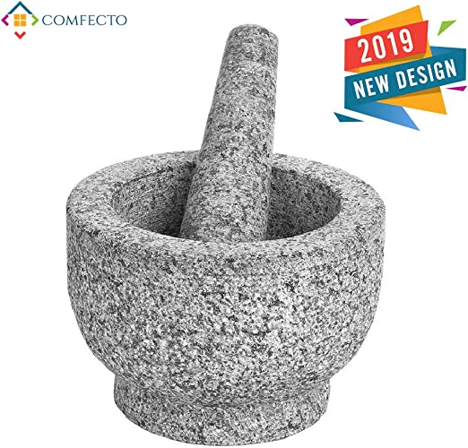 Mortar And Pestle Set Kitchen Tools Pharmacy Apothecary Spice Grinder Molcajete