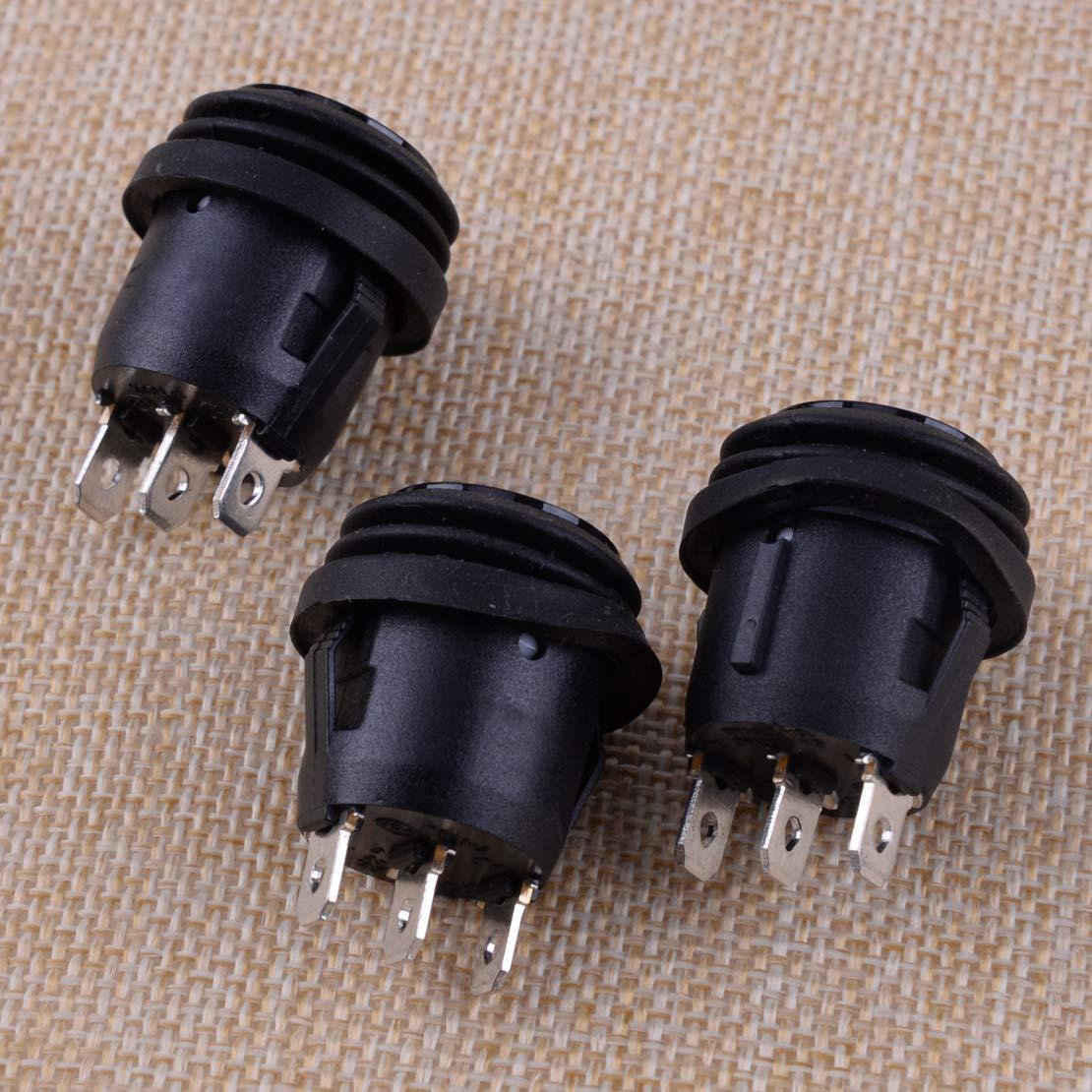 CITALL 5PCS /étanche 3 positions 3 broches interrupteur /à bascule rond encliquetable SPDT