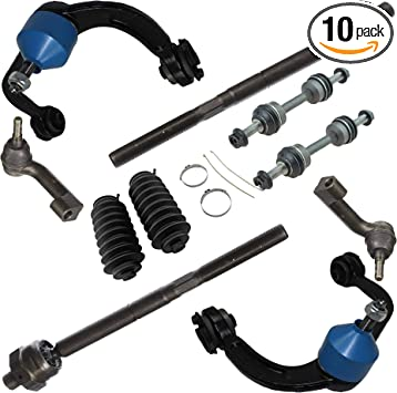 Sway Bars 10PC Front Upper Control Arms w//Ball Joints Detroit Axle 09-14 F-150 2WD Inner and Outer Tie Rods for 2007 2008 2009 2010-2015 Ford Expedition//Lincoln navigator -