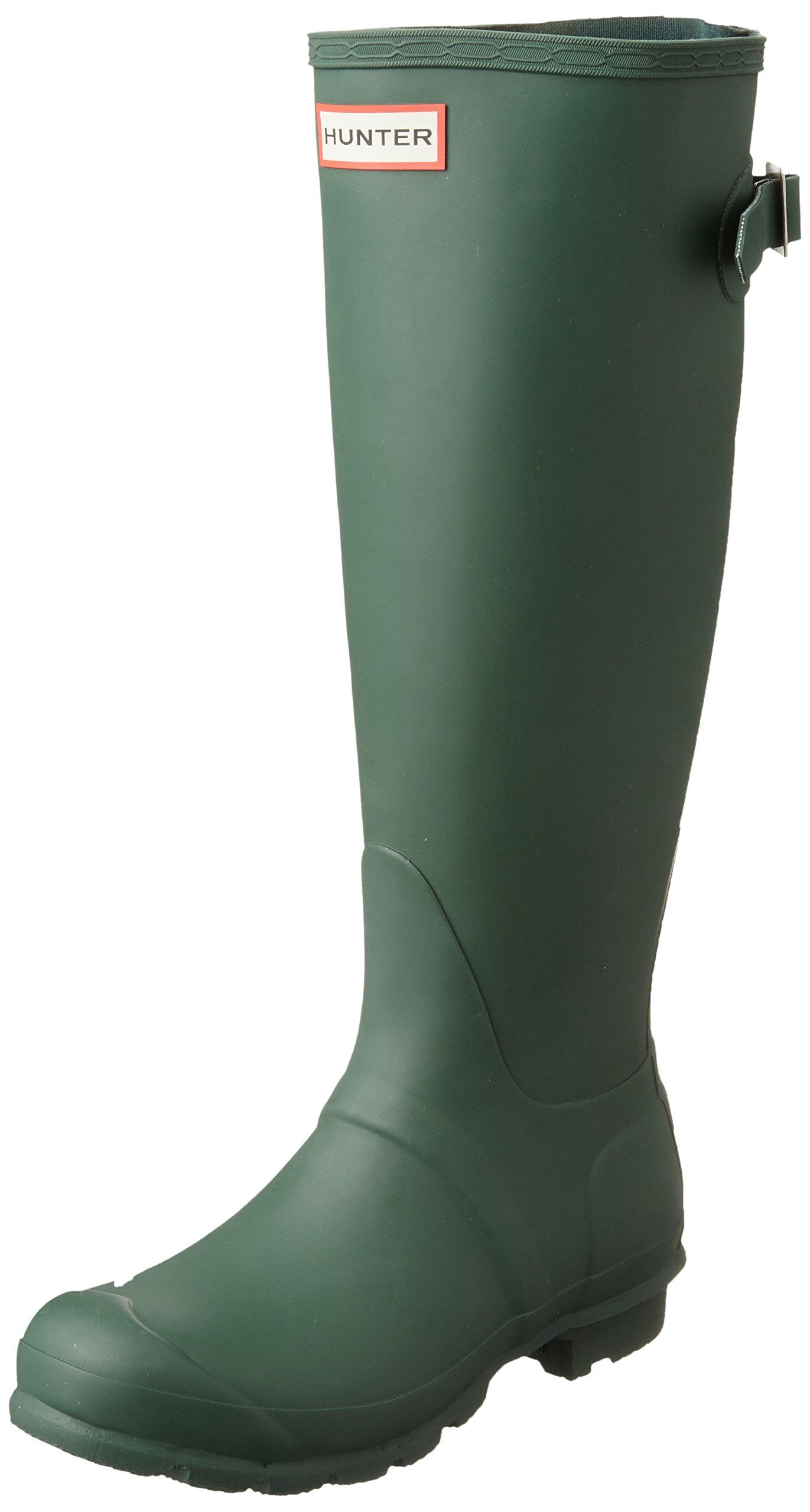 Hunter W Original Back Adjustable Tall Rain Boots Hunter Green Womens 7