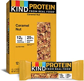 product image for KIND Protein Bars, Gluten Free, g Protein,1.76oz, Toasted Caramel Nut,12 Ounce