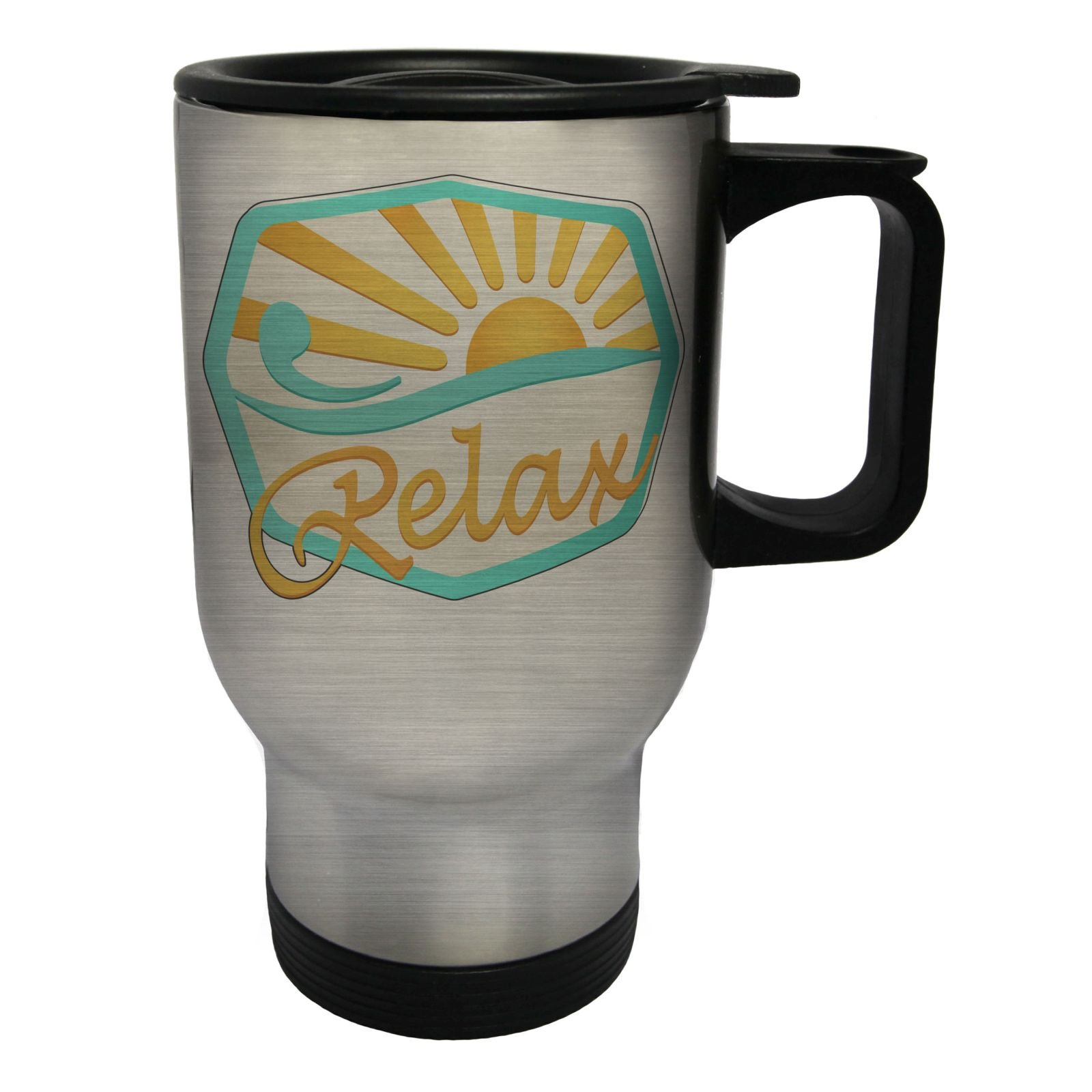 Beauty Relax Health Spa Stainless Steel Thermo Travel Mug 14oz o688ts