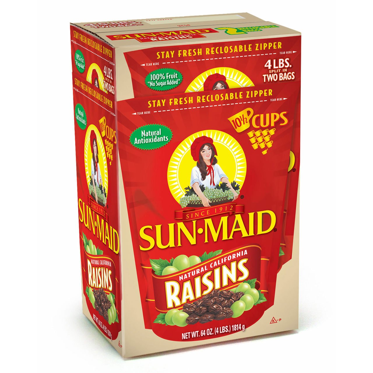 Sun-Maid Natural California Raisins, 64 Ounce
