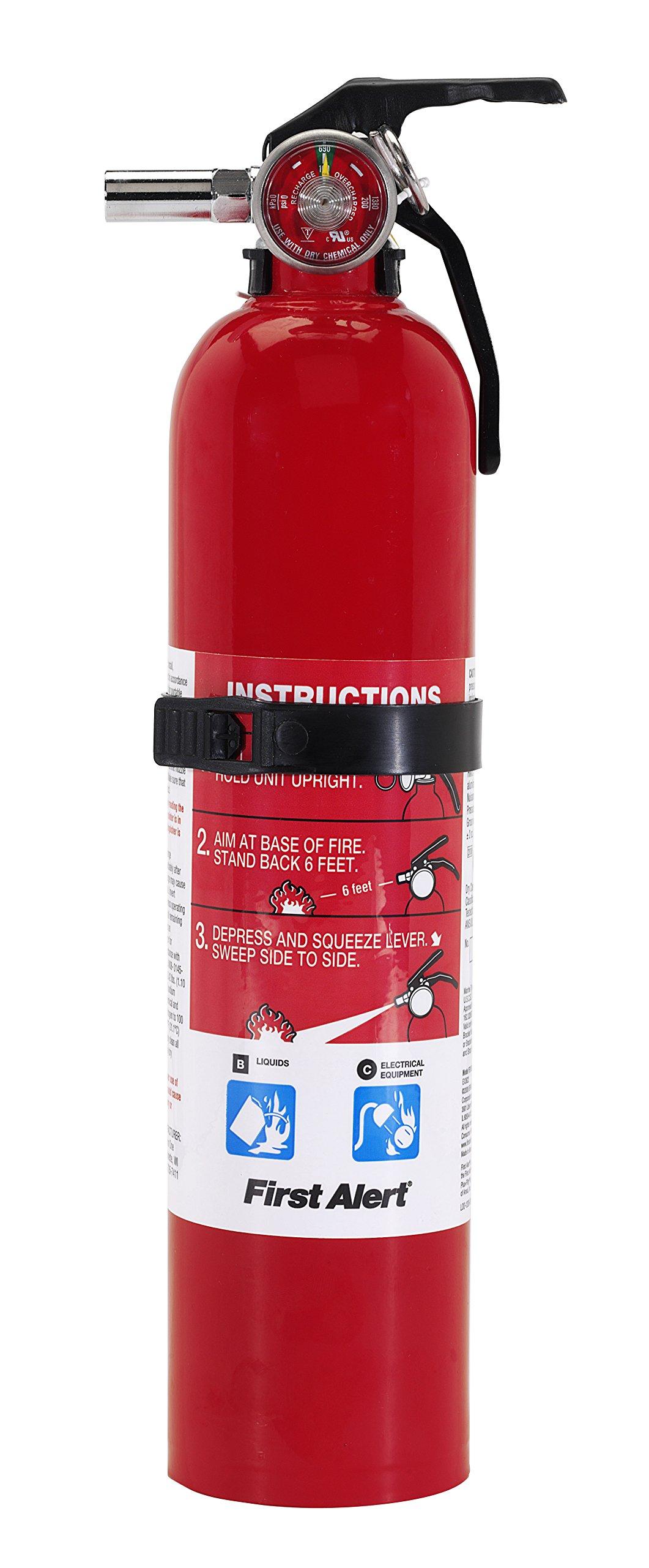 First Alert FE10GO Garage/Workshop Fire Extinguisher, Red
