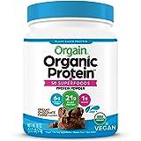 Orgain Organic Protein + Superfoods Powder, Creamy Chocolate Fudge - Vegan, Plant Based, 6g of Fiber, No Dairy, Gluten, Soy o