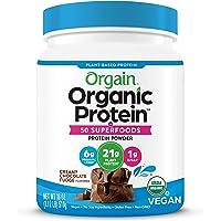 Orgain Organic Protein Powder, Creamy Chocolate Fudge - Vegan, Plant Based, 6g of Fiber, No Dairy, Gluten, Soy or Added…