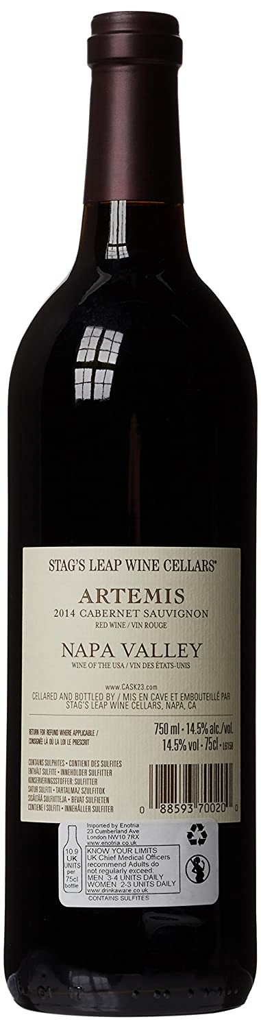 artemis stag s leap 2014. stag\u0027s leap artemis cabernet sauvignon 2014 red wine 75 cl: amazon.co.uk: grocery stag s