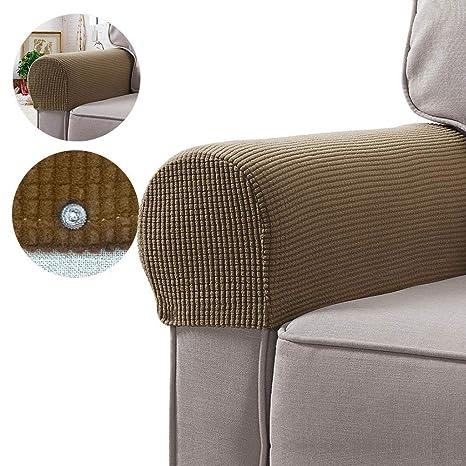 soundwinds - Juego de 2 Fundas para reposabrazos de sofá y sillón de Tela elástica, Protectores de reposabrazos Antideslizantes para sillas, sofá