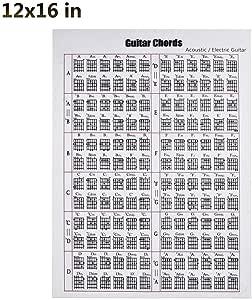 Ksruee Póster de acordes de Guitarra Pegatinas de acordes de ...