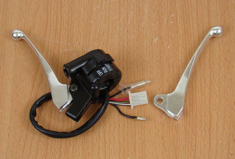 Beehive Filter Ruche filtre faciles à gauche côté droit de frein d'accélérateur boîtier Coque Kill Switch Levier de frein assemblée pour Yamaha Pw50PW 50Y-zinger