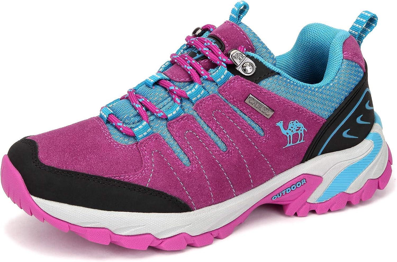 CAMEL CROWN Zapatos de Senderismo para Mujer Zapatillas de Escalada Zapatos Seguros para Alpinismo Montaña Excursionismo Trekking Deportes al Aire Libre