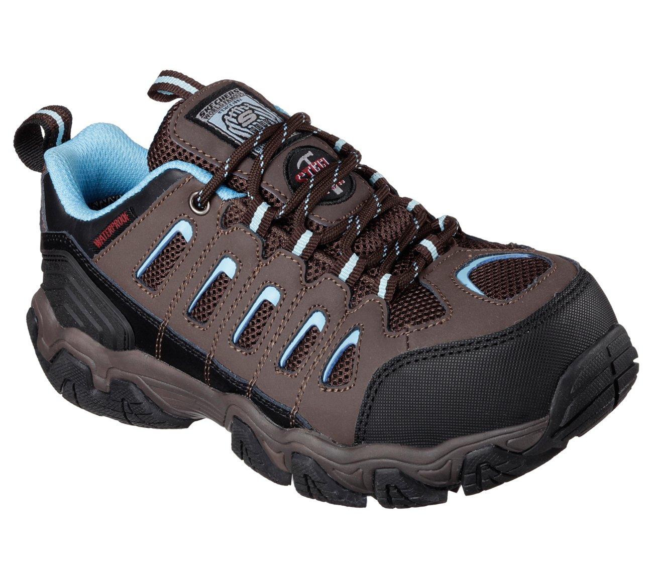 Skechers for Work Blais-Athol Hiking Shoe,Brown,8.5 M US